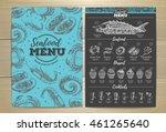 vintage seafood menu design | Shutterstock .eps vector #461265640