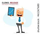illustration of office theme.... | Shutterstock .eps vector #461267680