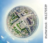 aerial city view with... | Shutterstock . vector #461270539