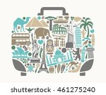 symbols of world attractions in ... | Shutterstock .eps vector #461275240