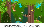 forest  info graphic in low... | Shutterstock .eps vector #461280706