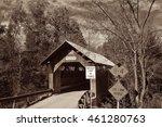 Covered Bridge In Vermont In...
