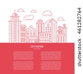 modern city illustration with... | Shutterstock .eps vector #461282764