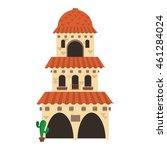 Flat Design Spanish Colonial...
