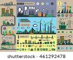 big city info graphic  industry ... | Shutterstock .eps vector #461292478