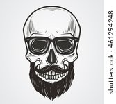 bearded skull illustration | Shutterstock .eps vector #461294248
