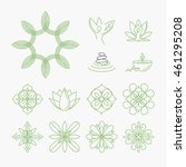 set of signs and elements for... | Shutterstock .eps vector #461295208