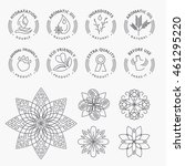 set of stickers and elements... | Shutterstock .eps vector #461295220