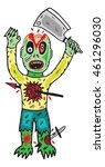 zombie vector illustration   Shutterstock .eps vector #461296030