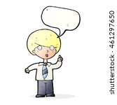 cartoon school boy answering... | Shutterstock . vector #461297650