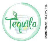 tequila watercolor | Shutterstock .eps vector #461297746