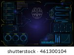 abstract brain hud interface ui ...