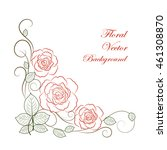 simple floral background in red ... | Shutterstock .eps vector #461308870
