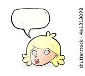 cartoon pretty face with speech ... | Shutterstock . vector #461318098
