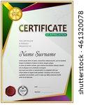 certificate template  signs ...   Shutterstock .eps vector #461320078
