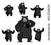 baribal american black bear set.... | Shutterstock .eps vector #461326834