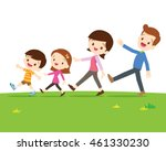 a happy family with two... | Shutterstock .eps vector #461330230