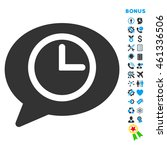 message time icon with bonus... | Shutterstock . vector #461336506