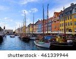 beautiful nyhavn in copenhagen  ... | Shutterstock . vector #461339944