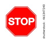stop sign icon  octagonal sign... | Shutterstock . vector #461347240