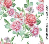 seamless pattern with flowers.... | Shutterstock . vector #461353054