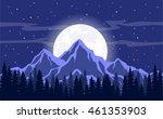 moon  moonlight  rocky... | Shutterstock .eps vector #461353903