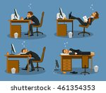 businessman bored tired...