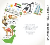 united arab emirates background | Shutterstock .eps vector #461355514
