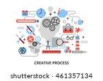modern flat thin line design...   Shutterstock .eps vector #461357134