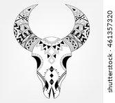 zentangle animal skull in... | Shutterstock .eps vector #461357320