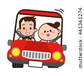 young couple to drive dating | Shutterstock .eps vector #461361274