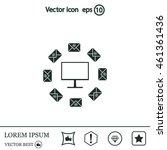 mail computer  vector... | Shutterstock .eps vector #461361436