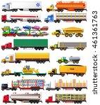vector set of semi trailer... | Shutterstock .eps vector #461361763
