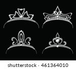 tiaras with diamond vector set. ... | Shutterstock .eps vector #461364010