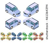 car icon set. isometric 3d... | Shutterstock .eps vector #461364394