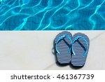 stripped flip flop summer ...   Shutterstock . vector #461367739
