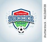 soccer logo. soccer football... | Shutterstock .eps vector #461368438
