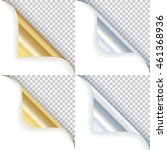 golden and silver curled...   Shutterstock .eps vector #461368936