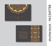 set of ornamental business... | Shutterstock .eps vector #461369788