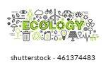 modern flat thin line design... | Shutterstock .eps vector #461374483