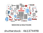 modern flat thin line design... | Shutterstock .eps vector #461374498