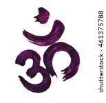 beautiful om symbol hand drawn... | Shutterstock . vector #461375788