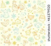 Christmas Doodle Pattern. New...