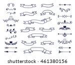 big set of decorative elements... | Shutterstock .eps vector #461380156