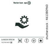 configure web icon. vector... | Shutterstock .eps vector #461380960