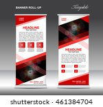 red roll up banner template... | Shutterstock .eps vector #461384704