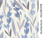 seamless watercolor botanical... | Shutterstock . vector #461385298