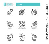 flat symbols about leaves. thin ... | Shutterstock .eps vector #461386300