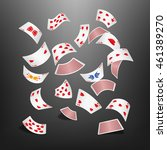 poker card heart scattered | Shutterstock .eps vector #461389270