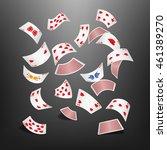 poker card heart scattered   Shutterstock .eps vector #461389270